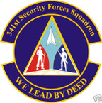 STICKER USAF 341ST SECURITY FORCES SQUADRON
