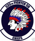 STICKER USAF 335TH FIGHTER SQUADRON DECAL