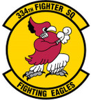 STICKER USAF 334TH FIGHTER SQUADRON