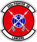 STICKER USAF 333rd FIGHTER SQUADRON
