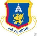 STICKER USAF 316TH WING