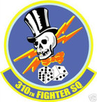 STICKER USAF 310TH FIGHTER SQUADRON DECAL