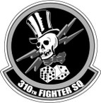 STICKER USAF 310TH FIGHTER SQUADRON BW