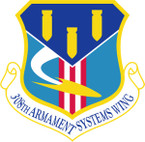 STICKER USAF 308TH ARMAMENT SYSTEMS WING