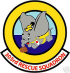 STICKER USAF 303RD RESCUE SQUADRON