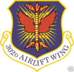 STICKER USAF 302ND AIRLIFT SQUADRON