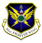 STICKER USAF 301st FIGHTER WING