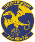 STICKER USAF 301ST AIRLIFT SQUADRON A