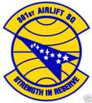 STICKER USAF 301ST AIRLIFT SQUADRON