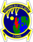 STICKER USAF 2ND CAMS