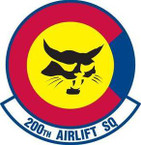 STICKER USAF 200th AIRLIFT SQUADRON