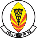STICKER USAF 199TH FIGHTER SQUADRON