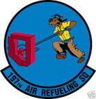 STICKER USAF 197TH AIR REFUELING SQUADRON