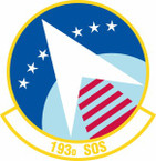 STICKER USAF 193rd Special Operations Squadron