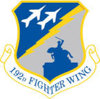 STICKER USAF 192nd Fighter Wing