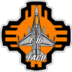 STICKER USAF 188TH FIGHTER SQUADRON TACO