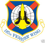 STICKER USAF 187TH FIGHTER WING