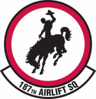 STICKER USAF 187th Airlift Squadron