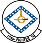 STICKER USAF 184TH FIGHTER SQUADRON