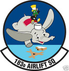 STICKER USAF 183RD AIRLIFT SQUADRON