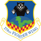 STICKER USAF 178TH FIGHTER WING