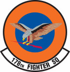 STICKER USAF 178th Fighter Squadron