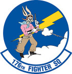 STICKER USAF 176th Fighter Squadron