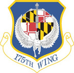 STICKER USAF 175TH BASE WING