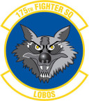 STICKER USAF 175TH FIGHTER SQUADRON