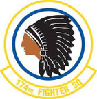 STICKER USAF 174TH FIGHTER SQUADRON