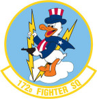 STICKER USAF 172nd FIGHTER SQUADRON