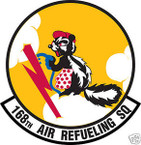 STICKER USAF 168TH AIR REFUELING SQUADRON