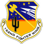 STICKER USAF 162ND FIGHTER WING