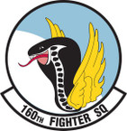 STICKER USAF 160TH FIGHTER SQUADRON