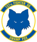 STICKER USAF 157TH FIGHTER SQUADRON