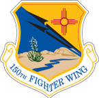 STICKER USAF 150TH FIGHTER WING