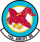 STICKER USAF 143rd Airlift Squadron
