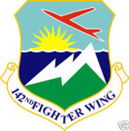 STICKER USAF 142ND FIGHTER WING