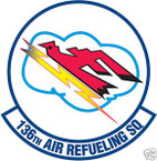 STICKER USAF 136TH AIR REFUELING SQUADRON