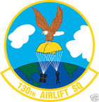 STICKER USAF 130TH AIRLIFT SQUADRON
