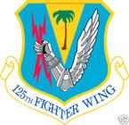 STICKER USAF 125TH FIGHTER WING