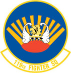 STICKER USAF 119TH FIGHTER SQUADRON