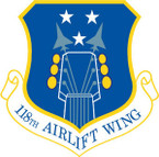 STICKER USAF 118TH AIRLIFT WING