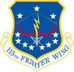 STICKER USAF 115TH FIGHTER WING