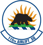 STICKER USAF 115TH AIRLIFT SQUADRON