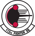 STICKER USAF 113th Fighter Squadron