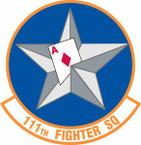 STICKER USAF 111th Fighter Squadron A