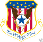 STICKER USAF 110TH FIGHTER WING