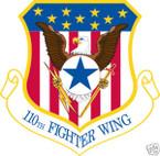 STICKER USAF 110TH FIGHTER WING