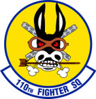 STICKER USAF 110TH FIGHTER SQUADRON